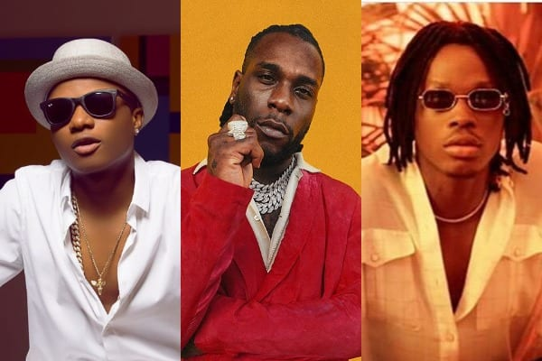 Wizkid shows support for Burna Boy, Fireboy DML and others' Albums