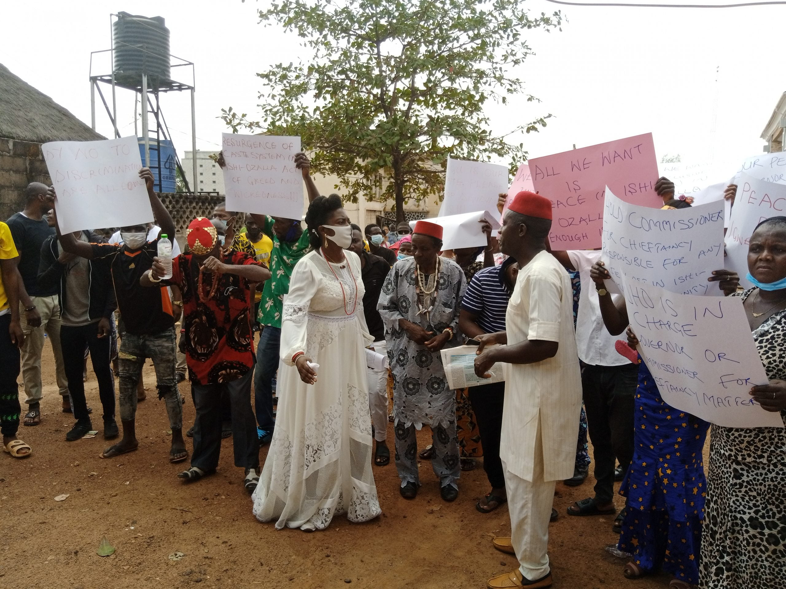 Enugu villagers protest ostracization, as Gov. Ugwuanyi faults action