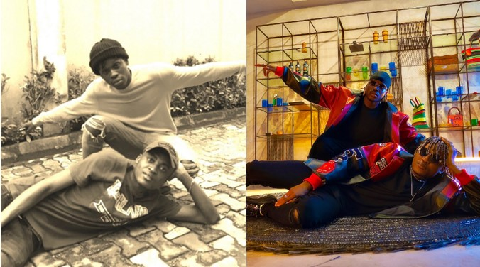 Fireboy DML and Cheque recreate throwback photo from their broke days