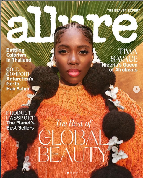 Tiwa Savage Goes Nuts As She Covers Allure Magazine