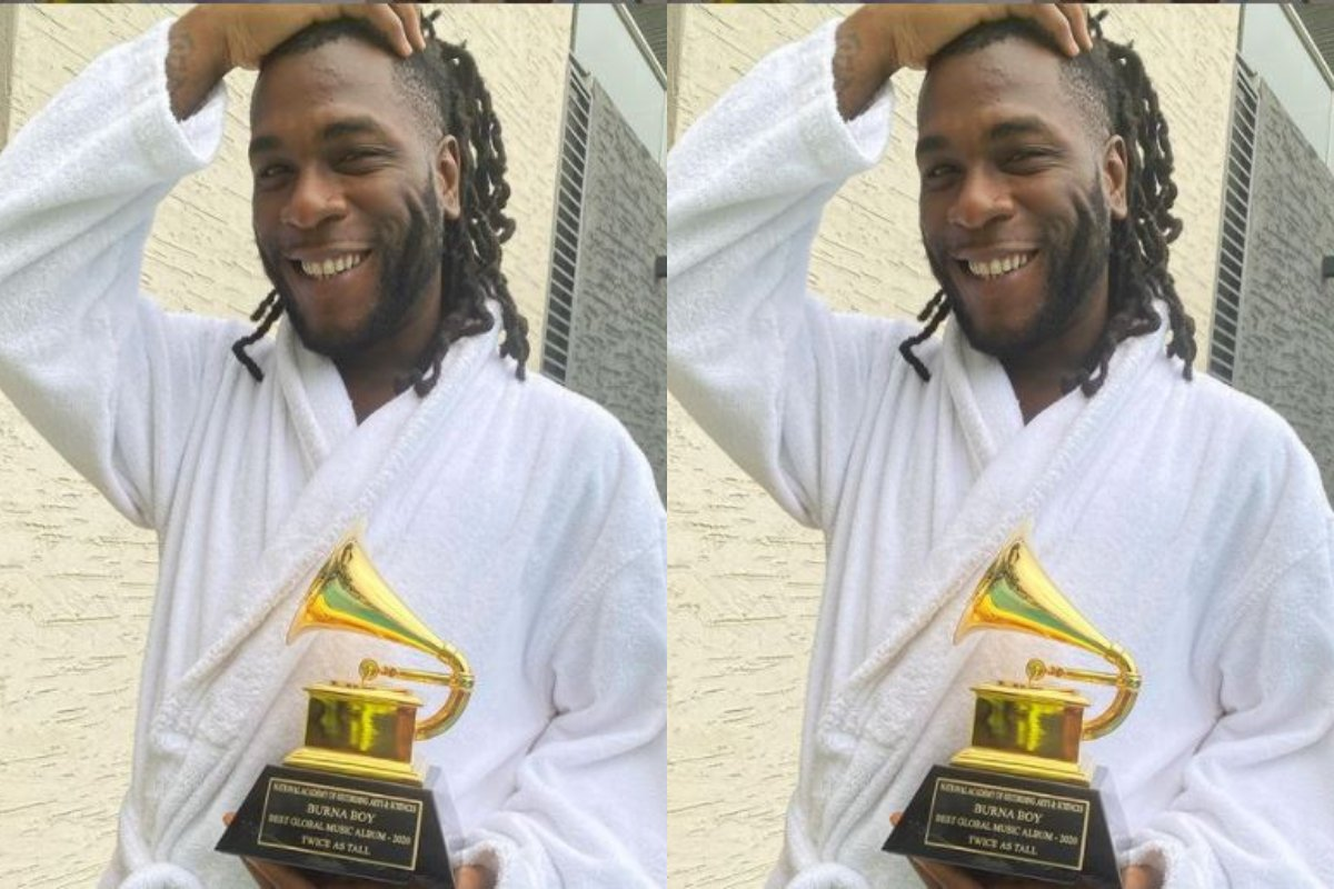I'm a product of sacrifice – Burna Boy takes delivery of Grammy award