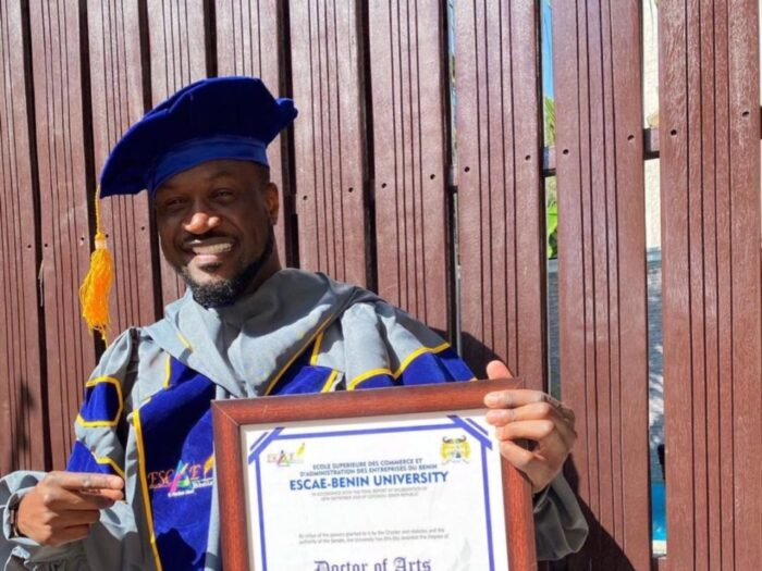 Mr P Awarded Honorary Doctorate Degree in a Benin University for Contribution to Dance and Music