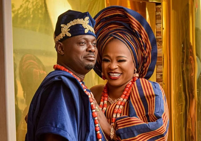 'I Won't Leave Him, Even If He Gets Every Woman Pregnant'- Wife of Kunle Afod to Troll