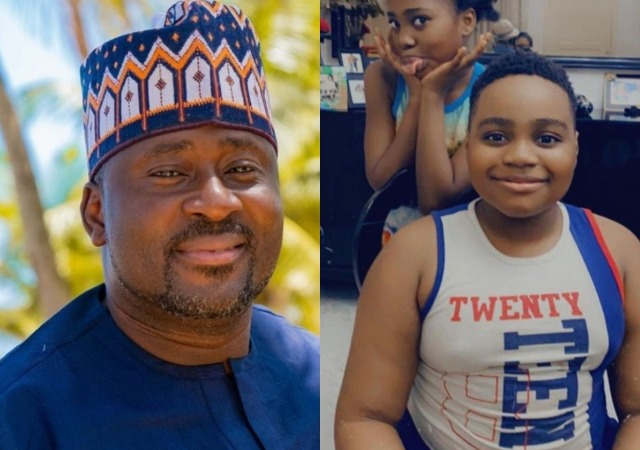 Desmond Elliot Celebrates His Twins with Beautiful Photos As They Clock 10 Years Old Today