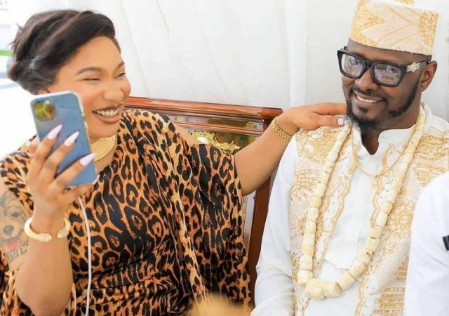 """""""Kpokpogri Has A Lot Of Celebrities S*X Tapes In His Possession,"""" – Tonto Dikeh Divulges"""