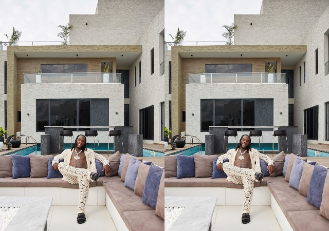 """""""This Is Where I Made My Grammy-Winning Album"""" – Burna Boy says as  he flaunts his Lagos mansion [video]"""