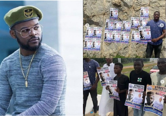 PRESIDENCY 2023: Pandemonium As Falz  Campaign Posters Hit Streets Of Abuja