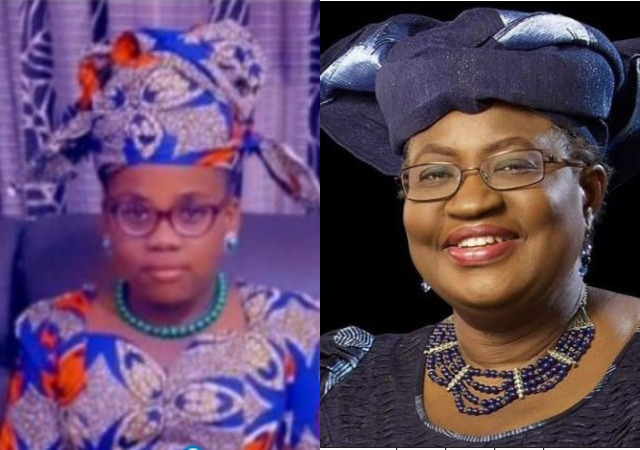 """""""I Thought It Was My Younger Self""""-Okonjo-Iweala Reacts After Seeing Little Girl Dressed As Her"""